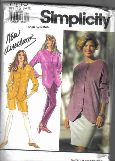 Simplicity 7445 Pattern 14 16 18 20 22 top skirt pants short casual outfit suit