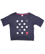 Jenni Short Sleeve Hearts & Dots Pajama Top T-Shirt in Small - $16.82
