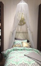 Pottery Barn Canopy Drape White Sheer Curtain Bed Crown Netting  - $79.00