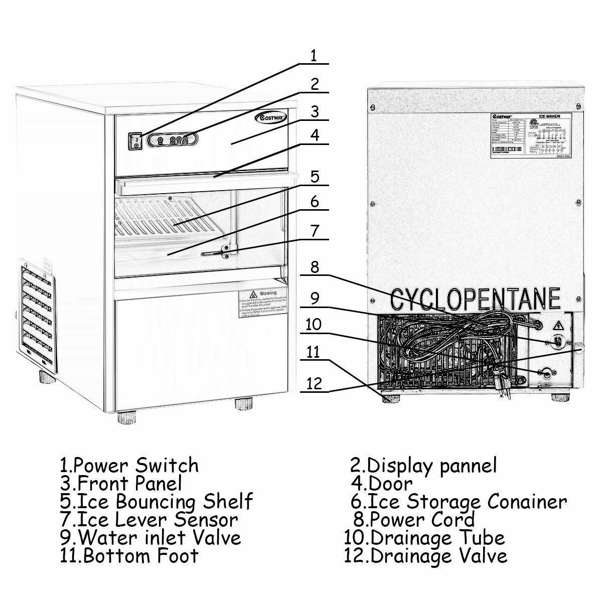 Commercial Automatic Ice Maker w/58lbs/24h and 50 similar items on