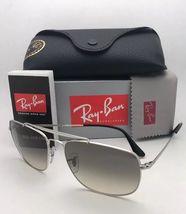 RAY-BAN Sunglasses THE COLONEL RB 3560 003/32 58-17 Silver Aviator w/ Grey Fade image 3