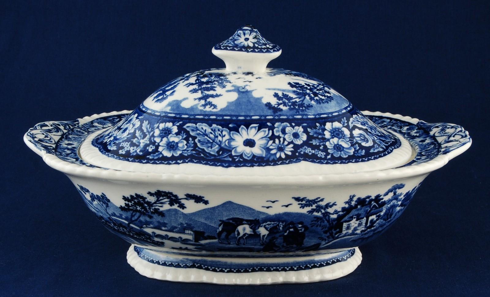 Royal Cauldon Native Blue & White Oval and 38 similar items