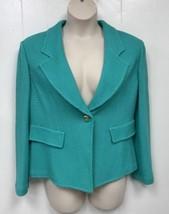 St. John Black Label Green Knit Blazer Jacket 14 - $266.13