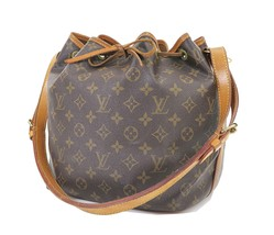 Authentic LOUIS VUITTON Petit Noe Monogram Shoulder Tote Bag Purse #31334 - £333.70 GBP