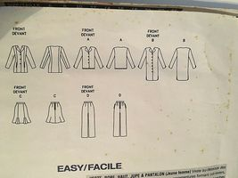 Vogue Sewing Pattern  # 1472 SZ  8-10-12 Dress ,Jacket, Pants, Skirt. Uncut image 7