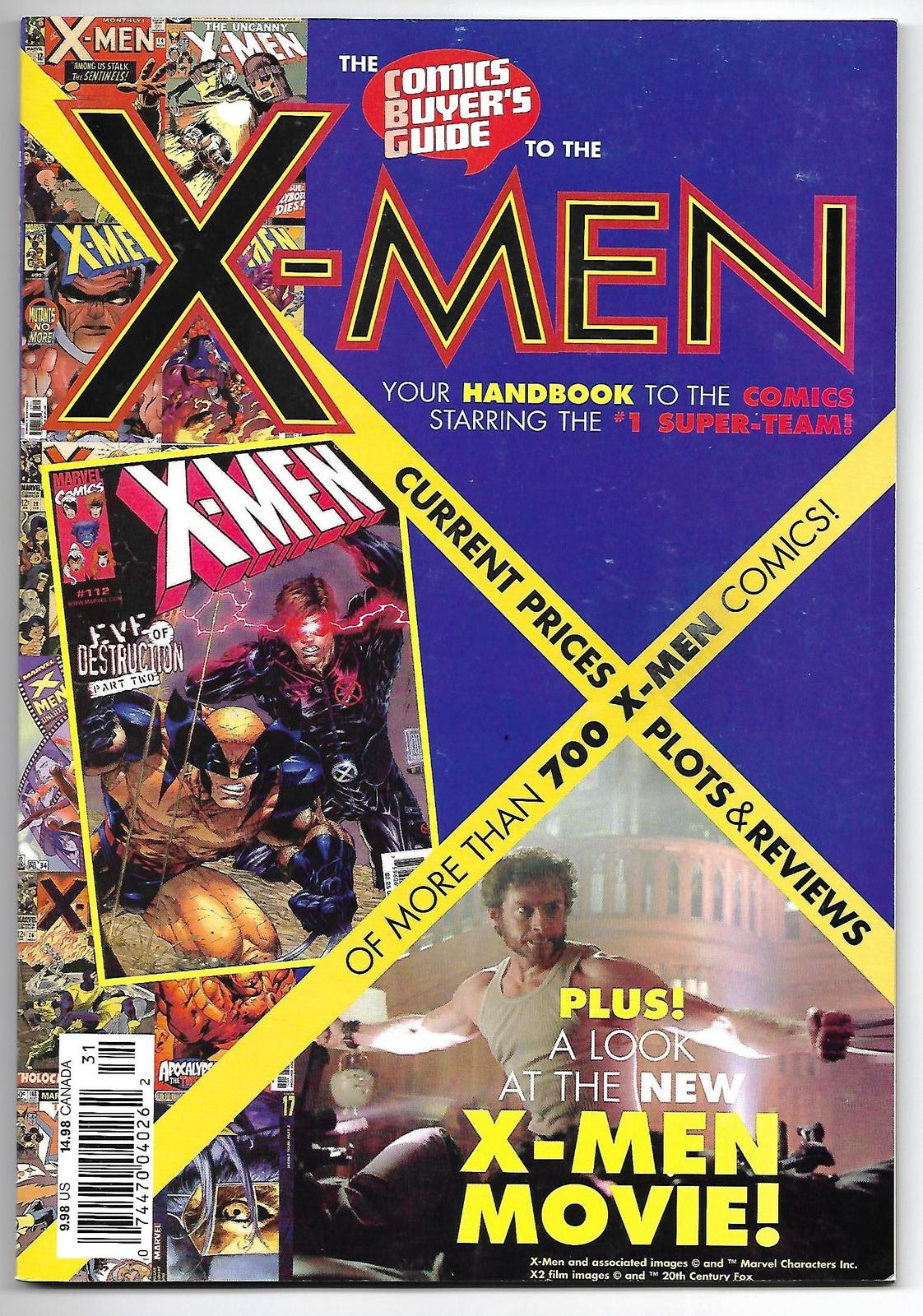 Primary image for Comics Buyer's Guide To The X-Men Magazine Krause Publications 2003