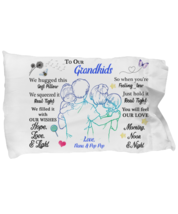 To My Grandkids Pillowcase Gift From Grandparents Pillow case Covering For  - $23.99