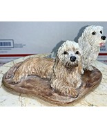 One of a Kind Vintage Dandie Dinmont Terrier Dogs Sculpture by F. D. Phe... - $296.99