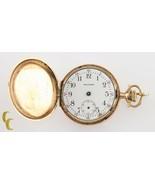 14K Oro Amarillo Waltham Antiguo Mini Reloj Bolsillo Hunter Completo G 1... - $422.11