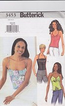 Butterick 3453 Camisole Top with Front and Strap Variations, Sizes 6, 8, 10 - $11.76