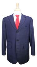 Bespoke! Custom Made Dark Navy Blue Wool Flannel Peak Lapel 3-Btn Suit 42R - $210.00