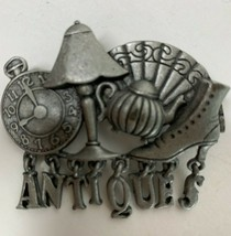 Vintage A.J.C. Pin Brooch Antiques Pin Pewter Pin - $10.90