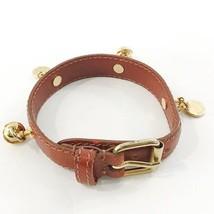 Prada Collar Safiano Brown Leather Prada Logo Lead Dog Cat - $178.20
