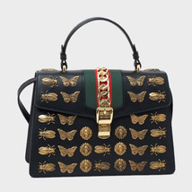 GUCCI Hand Shoulder Bag Silvi Animal Studs 431665 D4Z1X Leather Woman Au... - $6,712.75