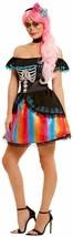 Day of the Dead Lady Costume, Womens Fancy Dress, UK Size 4-6 #AU - $44.23