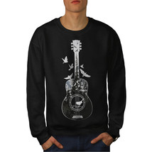 Guitar Forest Bird Jumper Music Tree Men Sweatshirt - $18.99+