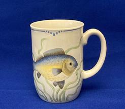 Fitz and Floyd La Mer coffee mug vintage 1979 cup The Sea fish nautical theme - $10.00