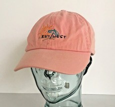 Key West Pink adjustable Cap by Jhats Coral Sun Umbrella on the Beach - $12.84
