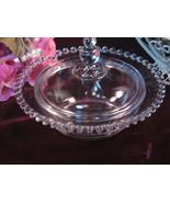 Imperial Elegant Glass Candlewick Round Butter Dish, Vintage Elegant Glass - $29.99