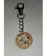 Steamed Dumpling Keychain Keychain Clip On Accessory Food Charms - $7.50