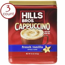Hills Bros French Vanilla Cappuccino Drink Mix 1LB 3-pack by Hills Bros - $22.28