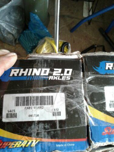 SuperATV Rhino 2.0 Heavy Duty Big Lift Rear Axle for battle AX01-016R2 pair ( je