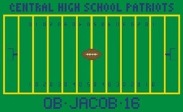 Football Field sports customizable PDF cross stitch chart John Shirley new desig - $89,02 MXN