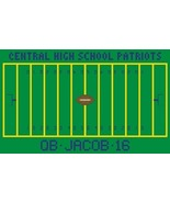 Football Field sports customizable PDF cross stitch chart John Shirley n... - $5.00