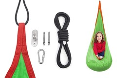 Kids Hammock Pod Chair Swing Rope Seat Nest Indoor Outdoor Inflatable Pi... - $32.55