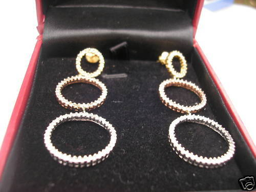 3.13 ct Diamond Chandelier 14kt gold Earrings $7535 app