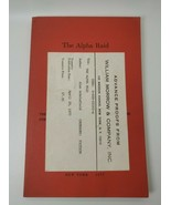 Vintage 1977 Alan Scholefield THE ALPHA RAID, Advance Reading Copy - $22.28