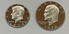 1974-S Proof Kennedy 50c and Eisenhower $1  (2 Coin Set) - $9.75