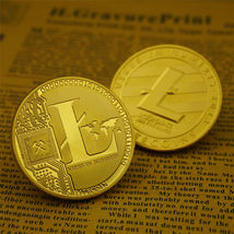 Gold Plated Commemorative Litecoin Collectible Golden Iron Miner Coin - One Item image 5