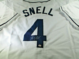 BLAKE SNELL / AUTOGRAPHED TAMPA BAY RAYS WHITE CUSTOM BASEBALL JERSEY / COA