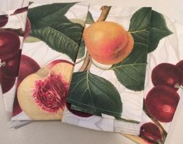 Williams Sonoma  Botanical Fruit Print Napkins ... - $35.68