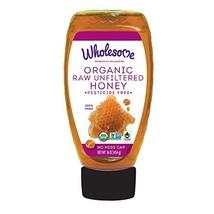 Wholesome Organic Raw Unfiltered  Honey, Pesticide Free, Non GMO, 1 LB s... - $9.72