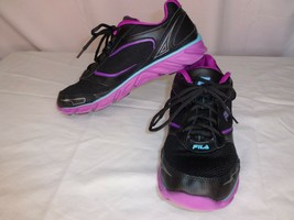 Women's Fila Ancerus 5 Athletic Running Shoes, Black & Magenta, Size 8.5 - $32.09