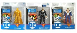 New 2020 Spin Master Dc Heroes Unite Superman GOLD-BLACK-ARMORED 4 Inch Figures - $49.99