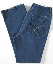Chico's Platinum Women's Size 0.5 / 6 Short Charm Blue Jeans Embellished - $14.84