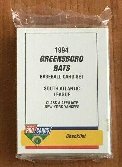 """1994 GREENSBORO BATS TEAM """"FLEER PROCARDS"""" MINOR LEAGUE SET"""