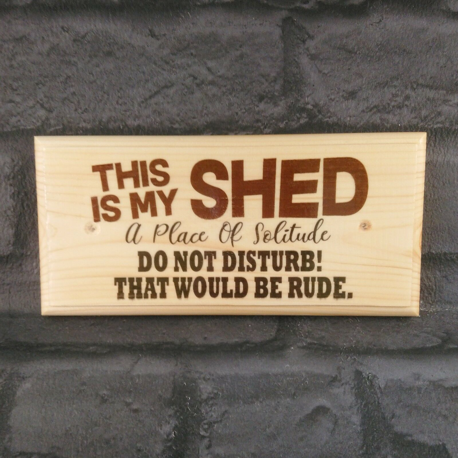 Primary image for This Is My Shed Plaque, Sign Gift Fathers Day Dad Grandad Workshop Garden 540
