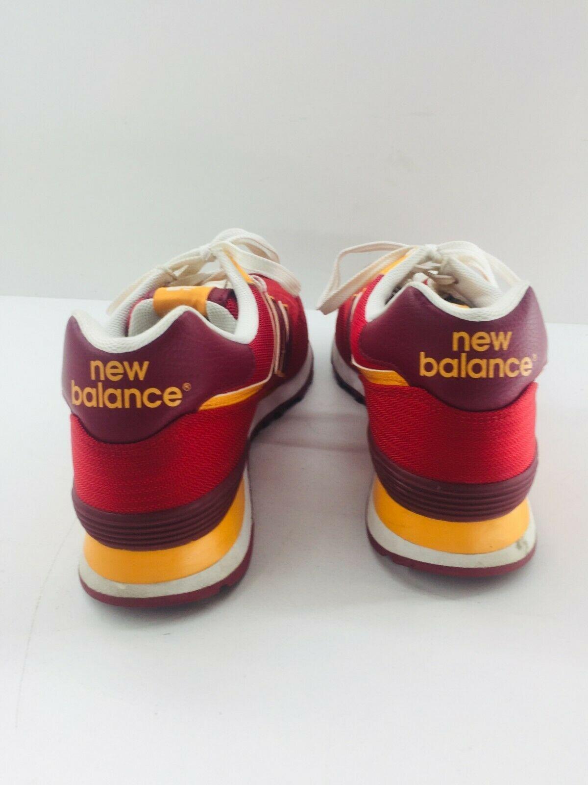 New Balance Athletic Sneaker Shoes Men's Sz 11.5 Red Orange ML574PPR  574 EUC image 7