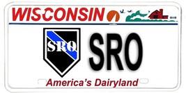 Wisconsin NOVELTY License Plate Law Enforcement - School Resource Office... - $10.03