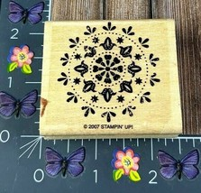 Stampin' Up! Floral Circle Design 2007 Rubber Stamp Wood Wanted Pattern ... - $2.48