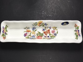 "VTG Aynsley Butterfly ""Cottage Garden"" Pattern Mint/Pen China Tray Dish ... - $23.74"
