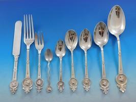 Medallion Gorham Sterling Silver Flatware Service Dinner Set 119 pcs Multi motif - $21,450.00