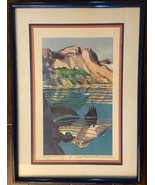 """REFLECTING"" IMPRESSIONIST Pencil Hand Signed Lithograph Framed/Matted **MINT** - $229.99"