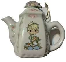 Precious Moments Girl Teapot Shaped Hanging Ornaments 1994 340324 - $14.88