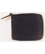 Vagarant Traveler Brown Leather Zipper Wallet with card and coin holders... - $35.88