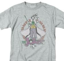 The Joker T-shirt DC comic book Batman super villian cartoon grey tee DCO541 image 1